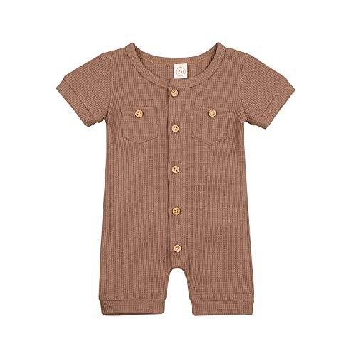 Mameluco de manga corta para recién nacido, mono para niño y niño, de una sola pieza, ropa de verano