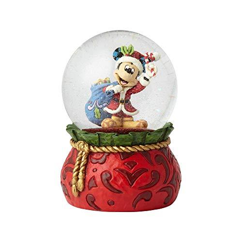 Enesco Disney Traditions by Jim Shore Santa Mickey Waterball, 5.625', Multicolor