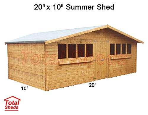 Total Sheds 20ft (6.00m) x 10ft (3.0m) Garden Shed Summer Shed Timber Shed