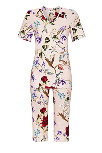 Ringella Damen Pyjama mit Caprihose Powder pink 38 1211233,Powder pink, 38