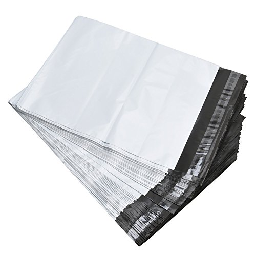 """RBHK Poly Mailers Envelopes Shipping Bags Self Sealing, White?100 Bags (14.5""""x19"""" 100 Bags)"""