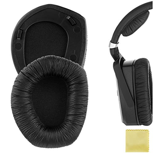Geekria QuickFit - Almohadillas de piel sintética para auriculares RS195 HDR195 RS185 HDR185 HDR175 RS175 HDR165 RS165 RS165 de repuesto, almohadillas de repuesto (anillo de plástico)
