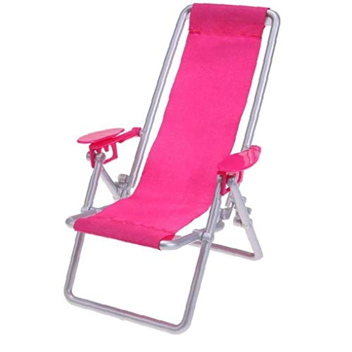 Aisoway Faltbare Liegestuhl Puppenhaus Lounge Strand-Stuhl Möbel Puppenhaus Props Zubehör
