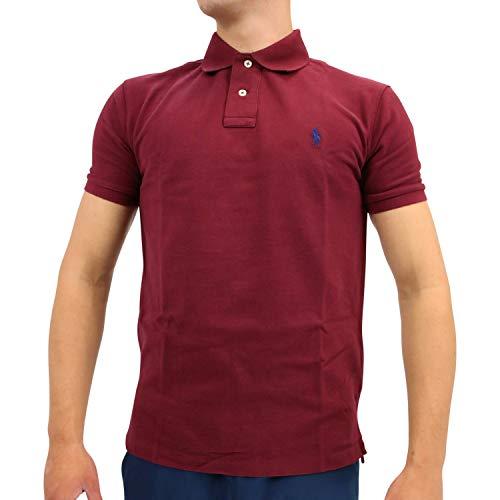 Ralph Lauren Herren Slim-Fit Poloshirt Weinrot S