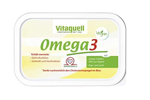 Vitaquell Omega 3 Pflanzen-Margarine, 250 g mit essentiellen Fettsäuren und DHA