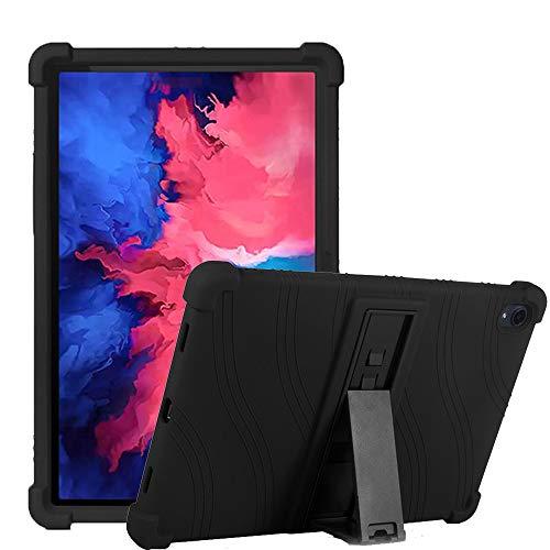LEHEE Funda para Huawei MatePad 11, Silicona Skin Soporte Cubierta a Suaves para niños de Peso liviano Funda para Huawei MatePad 11 2021, Negro