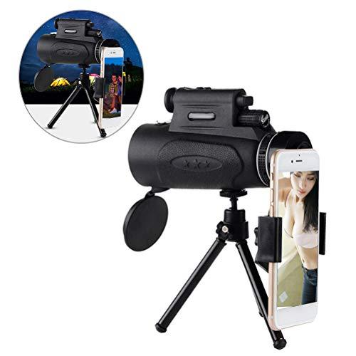 Shenruifa - Telescopio monoculare 4 K 100 x 90 HD zoom per adulti, impermeabile, potente telescopico, con supporto per smartphone, per bird watching, caccia, escursionismo, campeggio