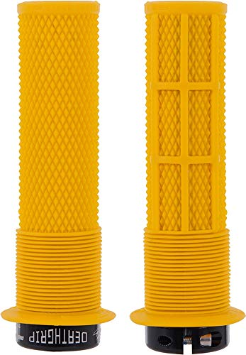 Dmr Deathgrip MTB Mountain Bike Cycle handle bar grips - Thick Flanged Gul Yellow