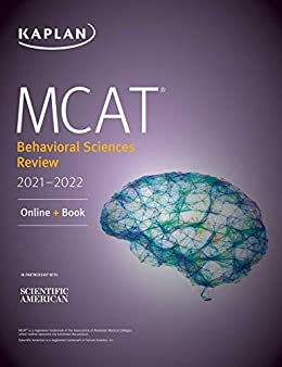 MCAT Behavioral Sciences Review 2021-2022: Online + Book (Kaplan Test Prep) by [Kaplan Test Prep]