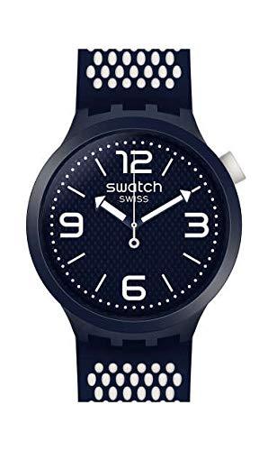 Swatch Herren Analog Quarz Uhr mit Silikon Armband SO27N101