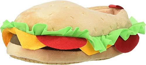 crewcuts by J.Crew Boy's Hamburger Slipper (Toddler/Little Kid/Big Kid) Hamburger Multi K12 (12 Little Kid)