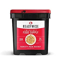 VARIETY PACK - 104 serving complete survival food kit provides a delicious variety of ready-to-eat food including breakfast, lunch, and dinner, fruit, vegetables, snacks, and milk 25 YEAR SHELF LIFE - With a 25-year shelf life, our emergency foods ar...