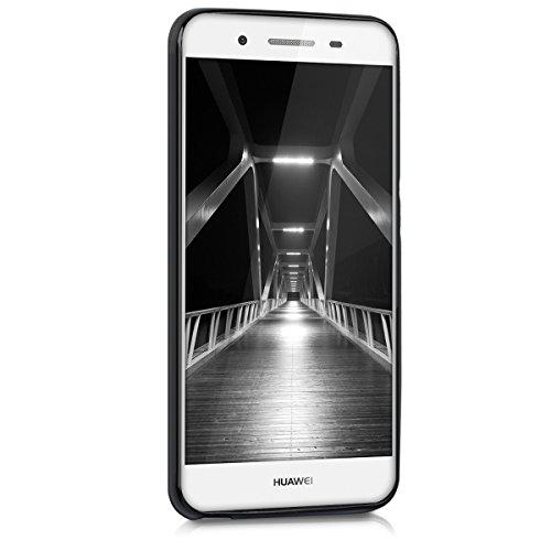 kwmobile Huawei GR3 / P8 Lite SMART Hülle - Handyhülle für Huawei GR3 / P8 Lite SMART - Handy Case in Schwarz matt - 2