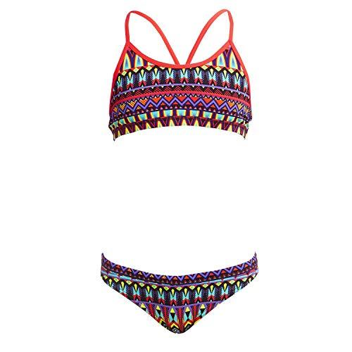 Funkita Fire Tribe Bikini voor meisjes, chloorbestendig en sneldrogend