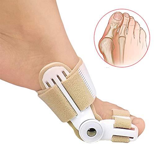 SLRMKK Férula de juanete, Corrector de enderezador de Dedos Compresión Ajustable Alivio del Dolor del pie Hallux Valgus, para Dedos superpuestos Beige Beige