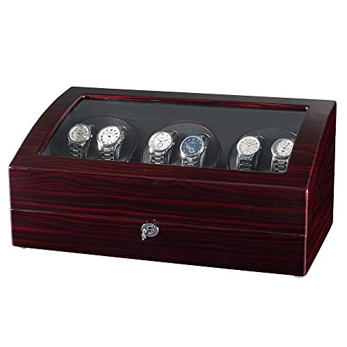 JQUEEN Watch Winders 6 with 7 Storages,Quiet Japanese Motors with Soft and Flexible Watch Pillows