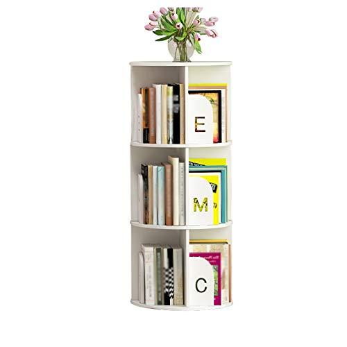 Bibliothèque Rotating Bookshelf Bureau pour Enfants Rack Rack Student Desktop Bay Tablettes de fenêtre Simple Bureau Petit étage FANJIANI (Color : White, Size : 97cm)