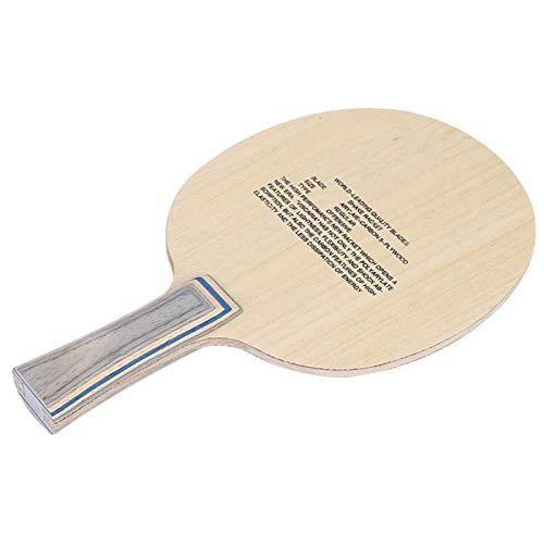 Pwshymi Raqueta de Tenis de Mesa Diseño Incomparable Resistente al Desgaste Duradero Bat de Tenis de Mesa Accesorios de Paleta para Tenis de Mesa para competición de Entrenamiento(Straight)