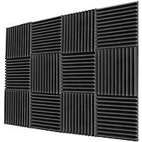 12-Pack Acoustic Sound Proof Padding Studio Foam Wedges Foam Panels