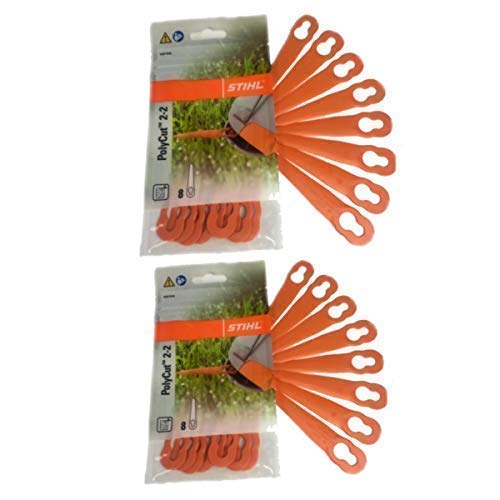 Stihl PolyCut 2-2 Kunststoffmesser für FSA 45 Rasentrimmer 2 Packungen (16 Stück)