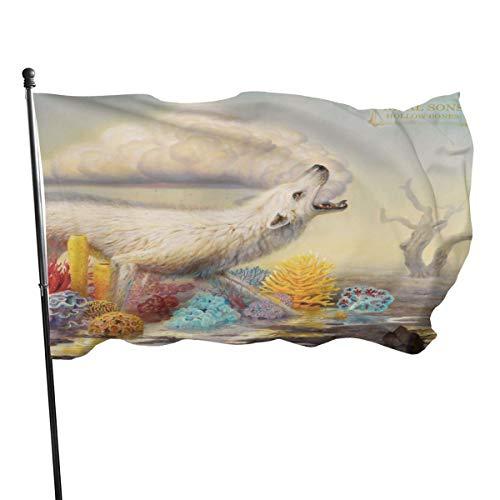 N / A Rival Sons Hollow Bones Fahnen Flagge Flag Banner Polyester Material Gartenbalkon Gartendekoration Im Freien 90x150cm