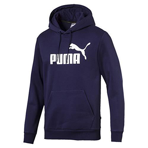 PUMA Men's Big Logo Fleece Hoodie, Peacoat, S