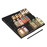 mDesign Adjustable, Expandable Plastic Spice Rack,...