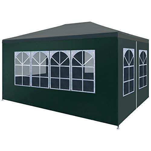 vidaXL Tendone per Feste in PE 3x4 m Verde Tenda da Giardino Gazebo Eventi