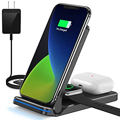 QTlier Wireless Charger Foldable 3 in 1 QiCertified
