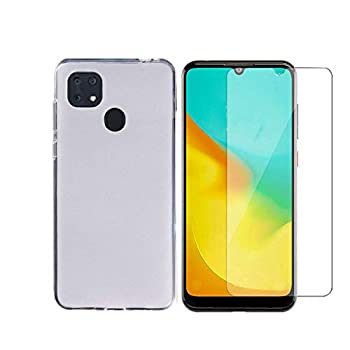 Tznzxm for Consumer Cellular ZMax 10 /ZTE Z6250 Tempered Glass Screen Protector [2-Pack],ZTE ZMax 10 Case Flexible TPU Scratch Resistant Non-Slip Back Cover Rubber Slim Phone Case for ZTE Z6250