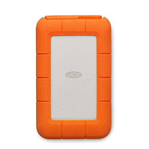 LaCie STFS5000800 - Disco Duro Externo (5 TB, USB Tipo C, Interfaz Thunderbolt) Color Naranja y Plata