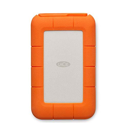 LaCie Rugged USB-C 4 To, Disque Dur Externe Portable HDD, USB 3.0, Résistant aux chutes, chocs, la poussière, la pluie, pour Mac & PC, services Rescue valables 2 ans (STFR4000800)