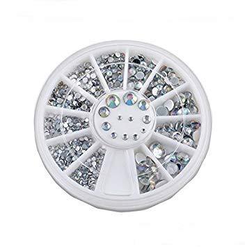 B-black® - Strass pour décoration des ongles, nail art, roulette de strass de plusieurs dimensions, boréale, pour un usage professionnel, esthéticienne