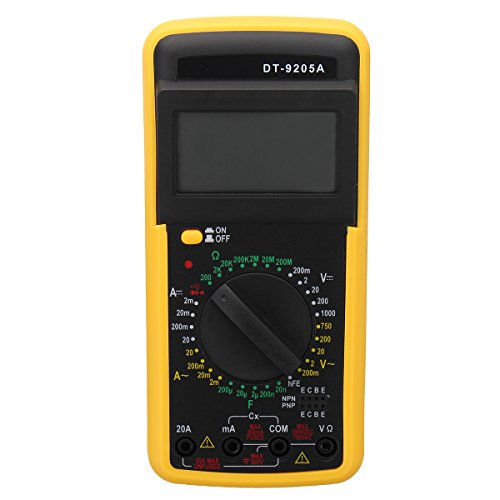 Tutoy Dt-9205A Digital Multimeter LCD Ac/Dc Ampere Kapazitiv Widerstands Tester