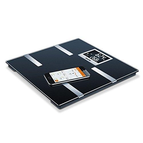 Beurer BF 700 Diagnosewaage, Messung von Körperfett, Körperwasser, Muskelanteil und Knochenmasse, Kalorienbedarf AMR/BMR, BMI, mit App-Anbindung, zertifizierter Datenschutz