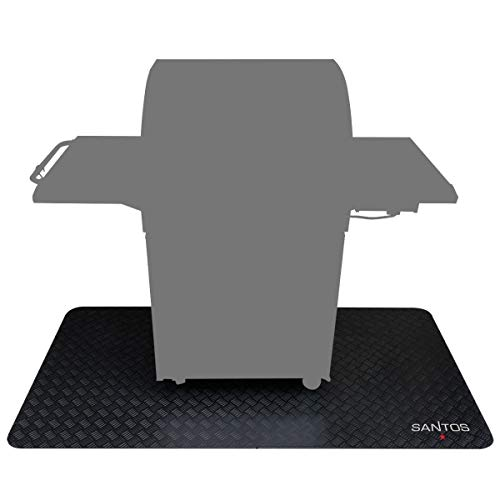 Santos Grillmatte, Grill-Unterlage und Boden-Schutzmatte für Gasgrills, outdoor geeignet, Größe: 190 x 100 cm