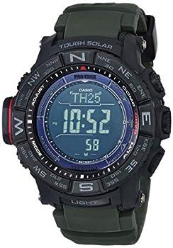 Casio Men s PRO TREK Stainless Steel Quartz Watch with Resin Strap Black 20.2  Model  PRW-3510Y-8CR