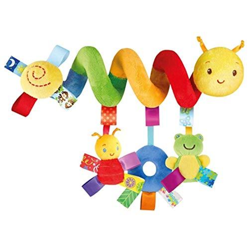 Juguete colgante en espiral Twisty Curly musical de dibujos animados juguete de dentición para bebés niños GIF