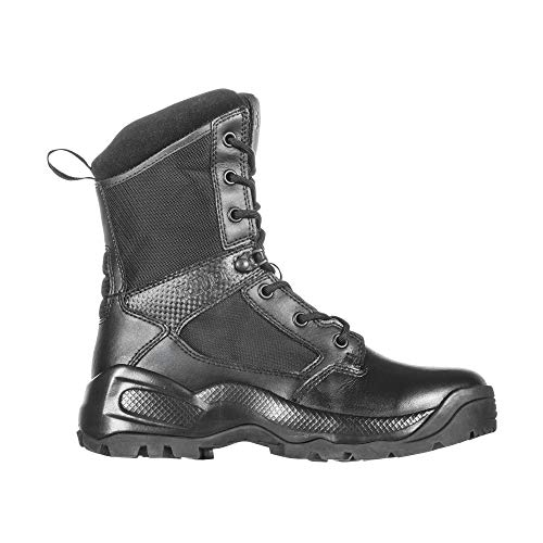 "5.11 Women's ATAC 2.0 8"" Tactical Side Zip Military Combat Boot, Style 12403, Black, 6.5 D(M) US"