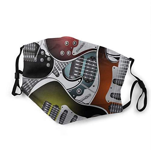 Windproof Mas-Ke,Stapel grafischer bunter E-Gitarren Rockmusik-Saiteninstrumente,gedruckte Gesichtsbehandlung