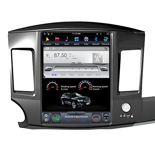 FLYUNICE 12.1 Inch Tesla Style 4GB RAM Android 9.0 Fast Boot Car Stereo Radio GPS Navigation for Mitsubishi Lancer 2007-2017 Bluetooth Head Unit Without Factory Rockford System WiFi Carplay DSP