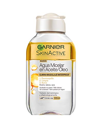 Garnier Skin Active - Agua Micelar en Aceite, Elimina el Maquillaje Waterpoof,...
