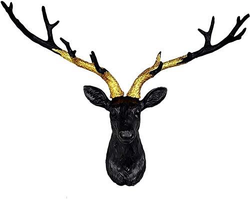 Decoración de la pared de la cabeza de la cabeza de los ciervos grande, la decoración de la pared de la cabeza del animal tridimensional, el monte de la pared de la cabeza del ciervo, el colgante de l