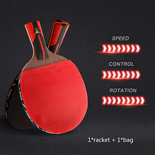 Read About ATYMD Ping Pong Paddle, Table Tennis Racket, Pen-Holding Style/Handshake Grip Bat, Profes...