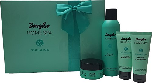 Douglas Beauty System - Home Spa - Seathalasso - Seaweed & Sea Minerals - Set - Geschenkset - Shower Foam 200ml + Peeling 100g + Body Cream 75ml + Hand Cream 75 ml