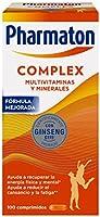 Pharmaton Complex - Multivitamínico con Ginseng - 100 Comprimidos Compactos - Energía Física y Mental