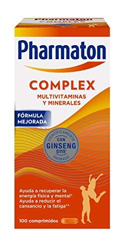 Pharmaton Complex - Multivitamínico con ginseng, 100 comprimidos compactos, Energía Física y Mental