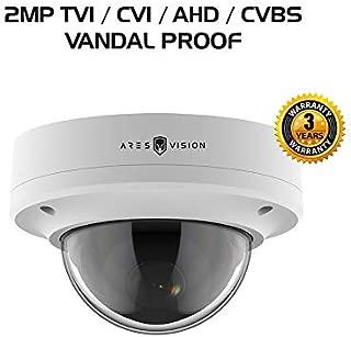 Ares Vision 4 in 1 2MP AHD, TVI, CVI, or Analog CCTV Camera w/IR Night Vision & Vandal Proof Glass