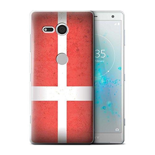 Stuff4® hoes/case voor Sony Xperia XZ2 Compact/Denemarken/Deens patroon/Europa vlag collectie