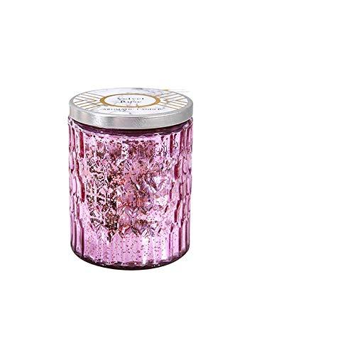 kanglang Vela Vela perfumada Vela de Cera de Soja Fragancia Vela Encantadora Vela Muy Hermosa Cielo Estrellado Taza decoración Vela Regalo-Rosado